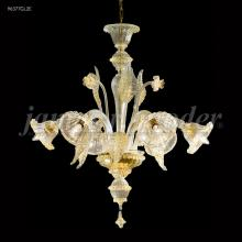 James R Moder 96377GL2E - Murano Collection 6 Arm Chandelier