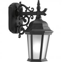 Progress P5682-31EB - One Light Textured Black Etched Glass Wall Lantern