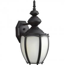 Progress P5770-31 - One Light Black  Etched Seeded Glass Wall Lantern