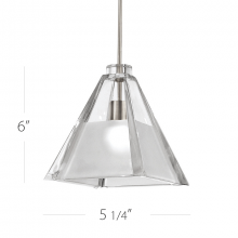 WAC US MP-915-CF/BN - TIKAL PENDANT WITH CANOPY MOUNT
