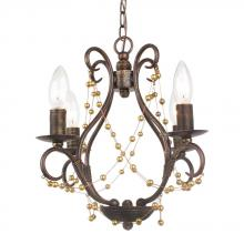 Crystorama 454-EB - Crystorama Angelina 4 Light English Bronze Mini Chandelier