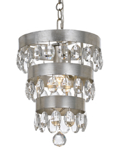 Crystorama 6103-SA - Crystorama Perla 1 Light Antique Silver Mini Chandelier