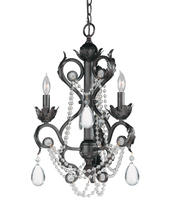 Crystorama 6703-DR - Crystorama Winslow 3 Light Optical Crystal Dark Rust Mini Chandelier