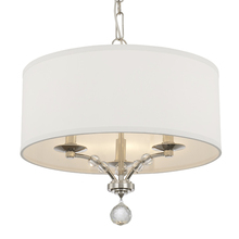 Crystorama 8005-PN - Crystorama Mirage 3 Light Nickel Mini Chandelier