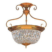 Crystorama 89-PB-CL-MWP - Crystorama 5 Light Polished Brass Ceiling Mount