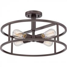 Quoizel NHR1718WT - New Harbor Semi-Flush Mount