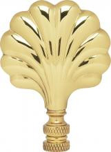 "Satco Products Inc. 90/1746 - Fan Brass Finial 3"" Height - 1/4-27 Polished Brass"