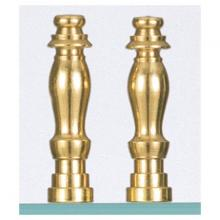 "Satco Products Inc. S70/130 - 2/2"" BRASS FINISH FINIALS"