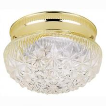 Westinghouse 6668900 - 1 Light Flush Polished Brass Finish with Clear Faceted Glass