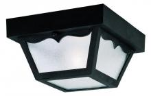 Westinghouse 6682200 - 1 Light Hi-Impact Polypropylene Flush Black Finish with Clear Textured Glass