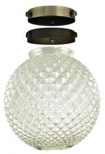 Westinghouse 8102400 - Diamond Cut Clear Glass Globe with Adapters