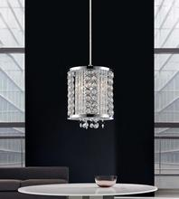 Crystal World QS8387P6C-R - 1 Light Chrome Mini Pendant from our Sarina collection