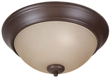 "Jeremiah XP13AG-2A - 2 Light 13"" Flushmount - Aged Bronze Textured"