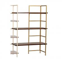 Sterling Industries 351-10167EXT - Balart Gold And Walnut Extension For Shelf Unit