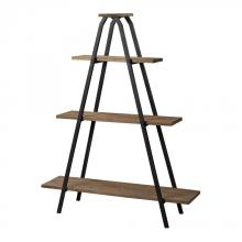 "Sterling Industries 51-10003 - Wooden ""A"" Line Shelves With Metal Frame"