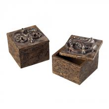 Sterling Industries 93-10071/S2 - Scroll Top Keep Sake Boxes