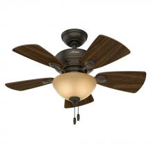 "Hunter 52090 - 34"" Ceiling Fan with Light"