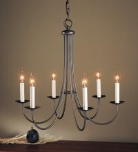 Hubbardton Forge 101160-SKT-10 - Simple Sweep 6 Arm Chandelier