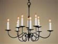 Hubbardton Forge 102100-SKT-10 - Simple Lines 10 Arm Chandelier