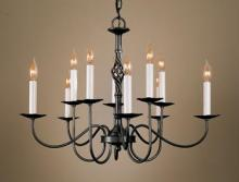 Hubbardton Forge 108100-SKT-07 - Twist Basket 10 Arm Chandelier