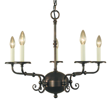 Framburg 2375 BN - 5-Light Brushed Nickel Jamestown Dining Chandelier