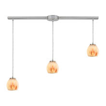 ELK Lighting 10421/3L-TS - Melony 3 Light Pendant In Satin Nickel And Frost