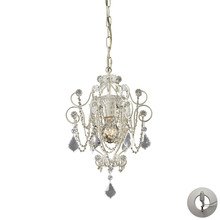 ELK Lighting 12017/1-LA - Elise 1 Light Chandelier In Antique White And Cl
