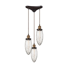 ELK Lighting 16310/3 - Owen 3 Light Pendant In Oil Rubbed Bronze And An