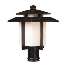 ELK Lighting 42173/1 - Kanso 1 Light Outdoor Pier Mount In Hazlenut Bro