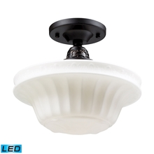 ELK Lighting 66221-1-LED - Quinton Parlor 1 Light LED Semi Flush In Oiled B