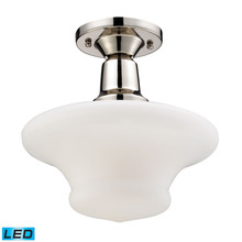 ELK Lighting 66234-1-LED - Barton 1 Light LED Semi Flush in Polished Nickel