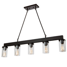 Artcraft AC10008 - Menlo Park 5 Light  Oil Rubbed Bronze Island