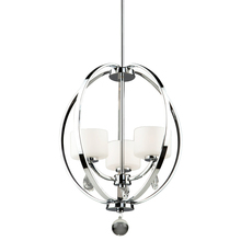 Artcraft AC10033CH - Piccadilly 3 Light  Chrome Chandelier