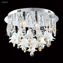 James R Moder 96324AG2MW - Murano Collection Flush Mount