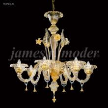 James R Moder 96376GL2E - Murano Collection 6 Arm Chandelier