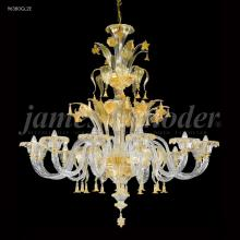 James R Moder 96380GL2E - Murano Collection 12 Arm Chandelier