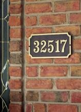 Hanover Lantern R223-BLK - Raised Letter Rectangular Wall Address Sign