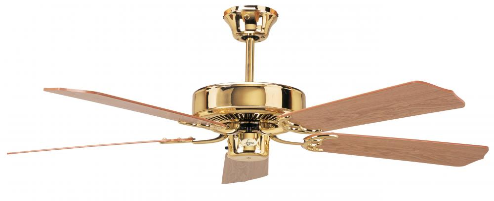 Concord By Luminance 42 Inch California Home Ceiling Fan - Polished Brass