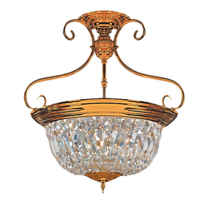 Crystorama 5 Light Polished Brass Ceiling Mount
