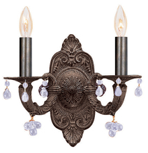 Crystorama 5200-VB-CLEAR - Crystorama Paris Market 2 Light Clear Crystal Bronze Sconce II
