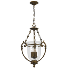 Crystorama 5663-AB - Crystorama Camden 3 Light Brass Glass Pendant II
