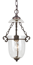 Crystorama 5761-BU-CL - Crystorama 1 Light Bronze Umber Glass Pendant I