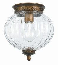 Crystorama 5780-AB - Crystorama Camden 1 Light Brass Ceiling Mount