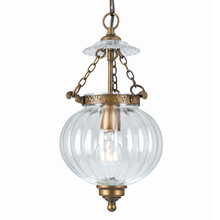 Crystorama 5781-AB - Crystorama 1 Light Brass Glass Pendant I