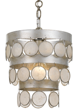 Crystorama 6003-SA - Crystorama Coco 1 Light Antique Silver Mini Chandelier