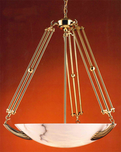 Crystorama 870-PB - Crystorama 5 Light Polished Brass Chandelier