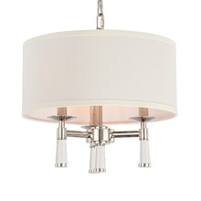 Crystorama 8863-PN - Crystorama Baxter 3 Light Polished Nickel Chandelier
