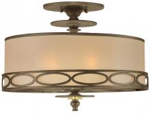 Crystorama 9603-AB - Crystorama 2 Light Brass Semi-Flush