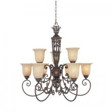 Designers Fountain 97589-BU - Amherst 9 Light Chandelier