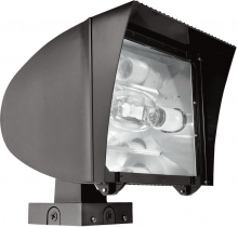 RAB Lighting FXLH320XPSQ - FLEXFLOOD XL 320W MH PSQT HPF PULSE START WALL MNT LAMP BNZ